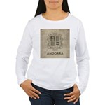 Vintage Andorra Coat Of Arms Women's Long Sleeve T