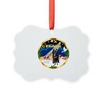 XmasSunrise/Schipperke Picture Ornament