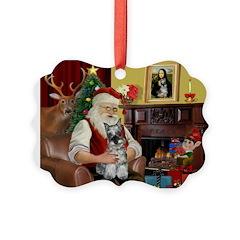 Santa's Mini Schnauzer Ornament