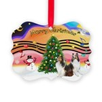 Xmas Music #2 / 2 Shelties (d Picture Ornament