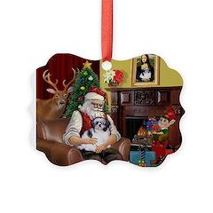 Santa's Shih Tzu (#1) Ornament