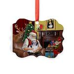 Santa's Shih Tzu (#1) Picture Ornament