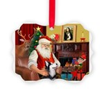 Santa's Sib Husky Picture Ornament