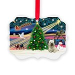 Xmas Magic & Skye Terrier Picture Ornament