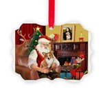 Santa's Corgi (#3P) Picture Ornament