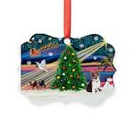 Xmas Magic & Corgi Picture Ornament