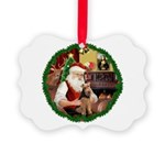 Santa's Welsh T Picture Ornament