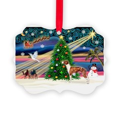 Xmas Magic & Whippet Ornament