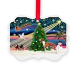 Xmas Magic & Whippet Picture Ornament