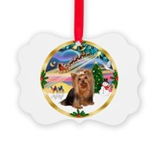 XmasMagic/Yorkie #7 Ornament