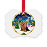 XmasMusic3/Yorkie #7 Picture Ornament