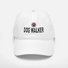 Dog Walker Pink Stripes Baseball Baseball Cap