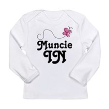 Muncie Indiana Butterfly Long Sleeve Infant T-Shir