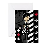 Cool Mod Girl Greeting Cards (Pk of 20)