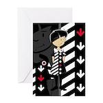 Cool Mod Girl Greeting Card