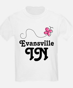 Evansville Indiana Butterfly T-Shirt