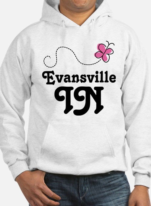 Evansville Indiana Butterfly Hoodie