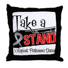 Take a Stand Parkinsons Throw Pillow