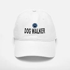 Dog Walker Blue Stripes Baseball Baseball Cap