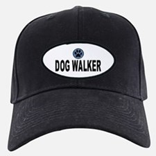 Dog Walker Blue Stripes Baseball Cap