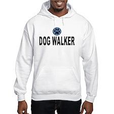 Dog Walker Blue Stripes Hoodie