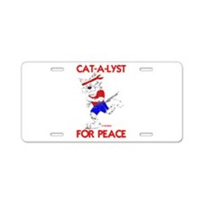 CAT-A-LYST for peace Aluminum License Plate
