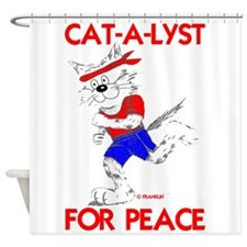 CAT-A-LYST for peace Shower Curtain