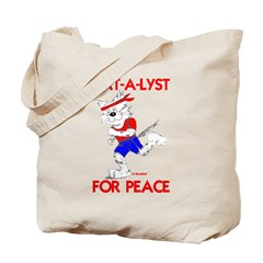 CAT-A-LYST for peace Tote Bag