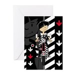 Mod Girl on Scooter Greeting Cards (Pk of 10)