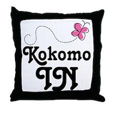 Kokomo Indiana Butterfly Throw Pillow