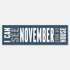 I Can See November... Bumper Bumper Sticker