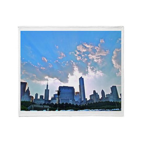 Chicago Skyline Throw Blanket