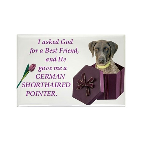 God Gave Me A German Shorthaired Pointer Rectangle