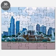 Fountain in Grant Park Chicago Puzzle