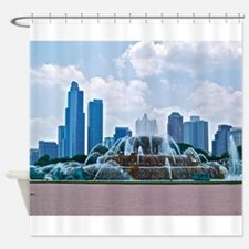 Fountain in Grant Park Chicago Shower Curtain