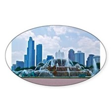 Fountain in Grant Park Chicago Decal