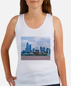Fountain in Grant Park Chicago Women's Tank Top