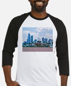 Fountain in Grant Park Chicago Baseball Jersey