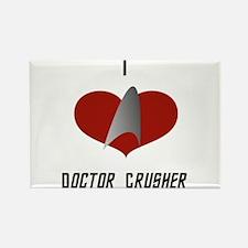 I Love Doctor Crusher Rectangle Magnet