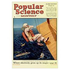 Popular Science Cover, November 1924 Poster