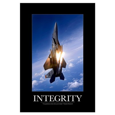 Military Motivational Poster: Integrity Canvas Art