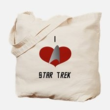I Love Star Trek Tote Bag