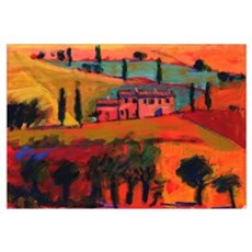 Tuscany, 2008 (acrylic on board) Canvas Art
