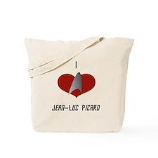 I Love Jean-Luc Picard Tote Bag