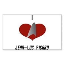 I Love Jean-Luc Picard Decal