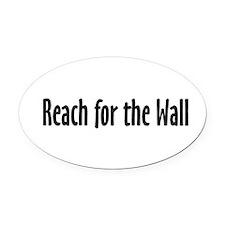 Swim Slogan Teepossible.com Oval Car Magnet