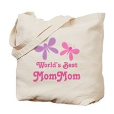 Best MomMom Butterfly Tote Bag