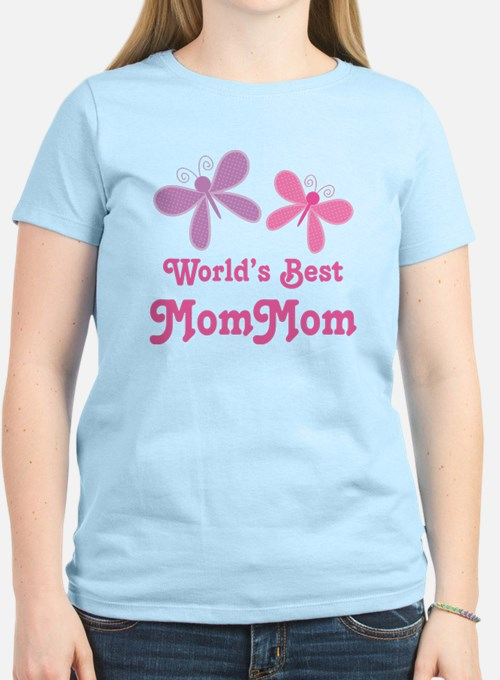 Best MomMom Butterfly T-Shirt