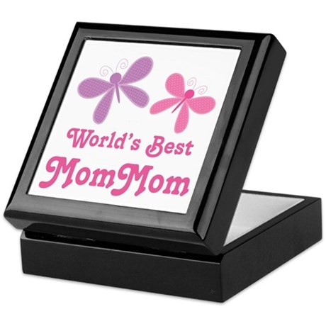 Best MomMom Butterfly Keepsake Box