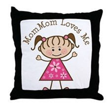 MomMom Loves Me Throw Pillow
